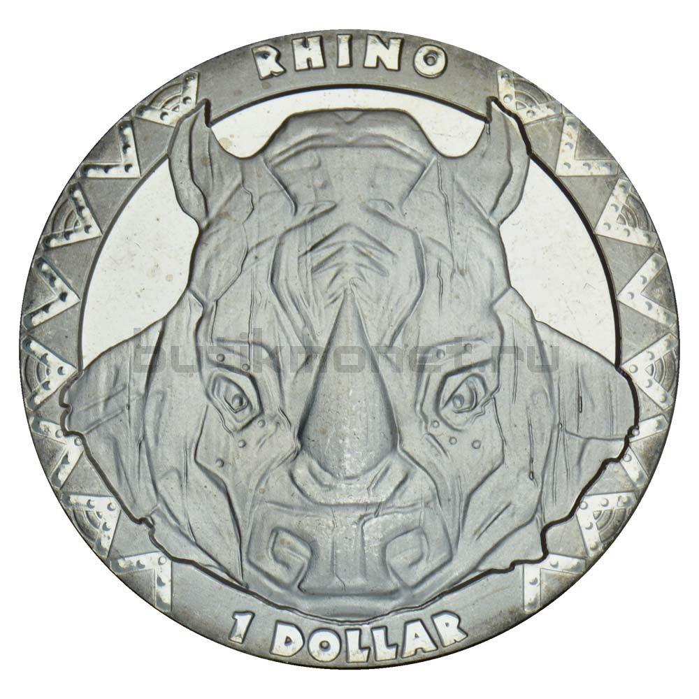 1 доллар 2019 Сьерра-Леоне Носорог (Большая пятерка)