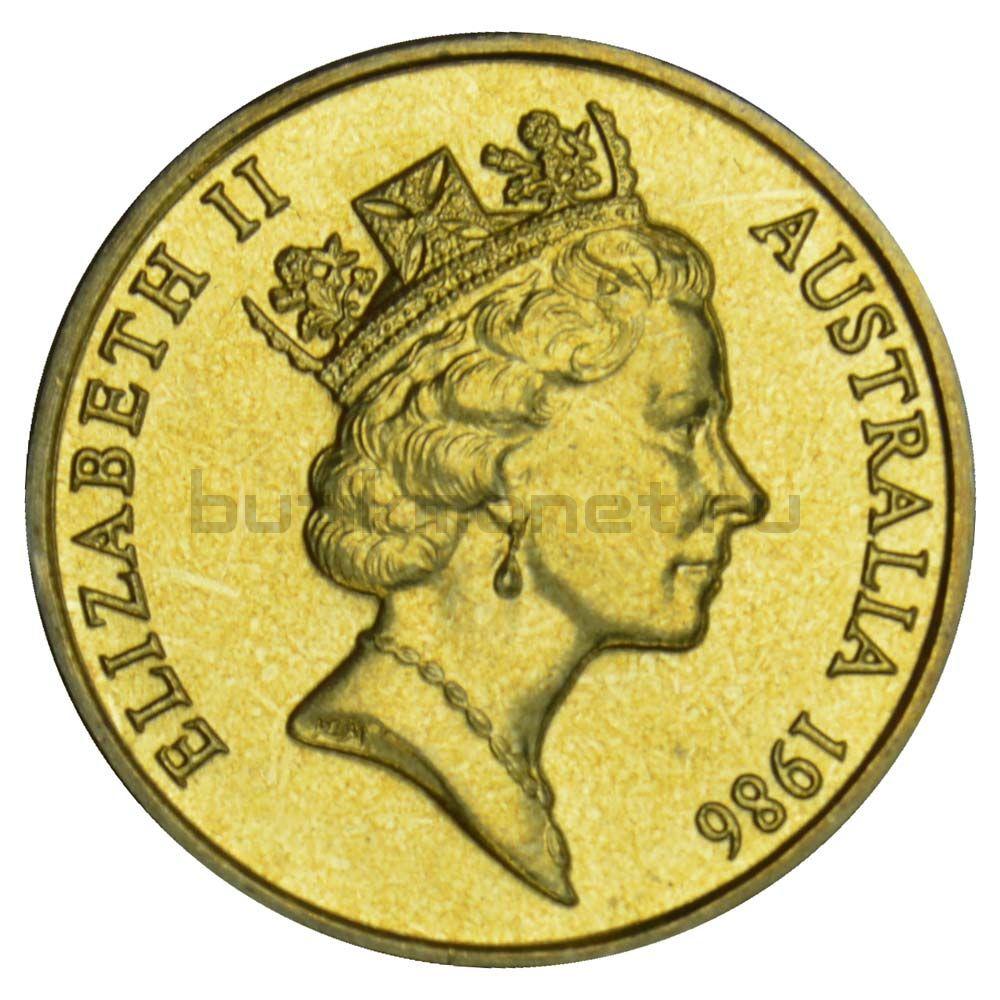 1 доллар 1986 Австралия Международный год мира
