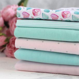 Набор тканей для пошива - Мятная карамель