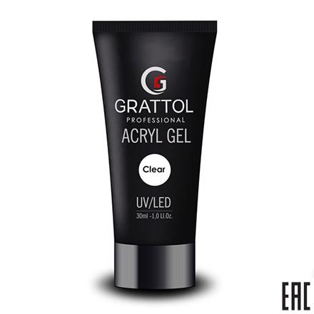 Grattol, Acryl Gel Clear - Акрил-гель прозрачный (30 мл.)