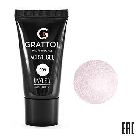 Grattol, Acryl Gel 09 - Акрил-гель камуфляж с шиммером (30 мл.)