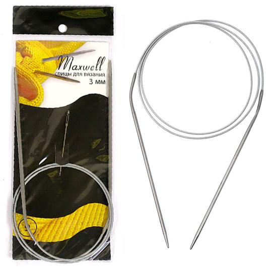 Спицы круговые  Maxwell BLACK в комплекте с иглой (СП. MAXW)