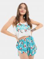 Шелковая женская пижама с рисунком № ED125