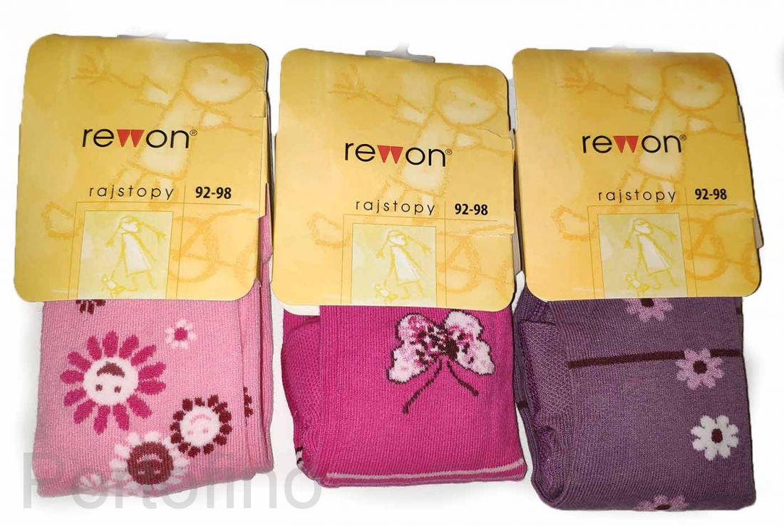 501-004G (92/98) Колготки для девочек с компьютерным рисунком Rewon