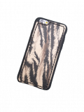 "Кожаный чехол-накладка ""Зебра"" на iPhone"