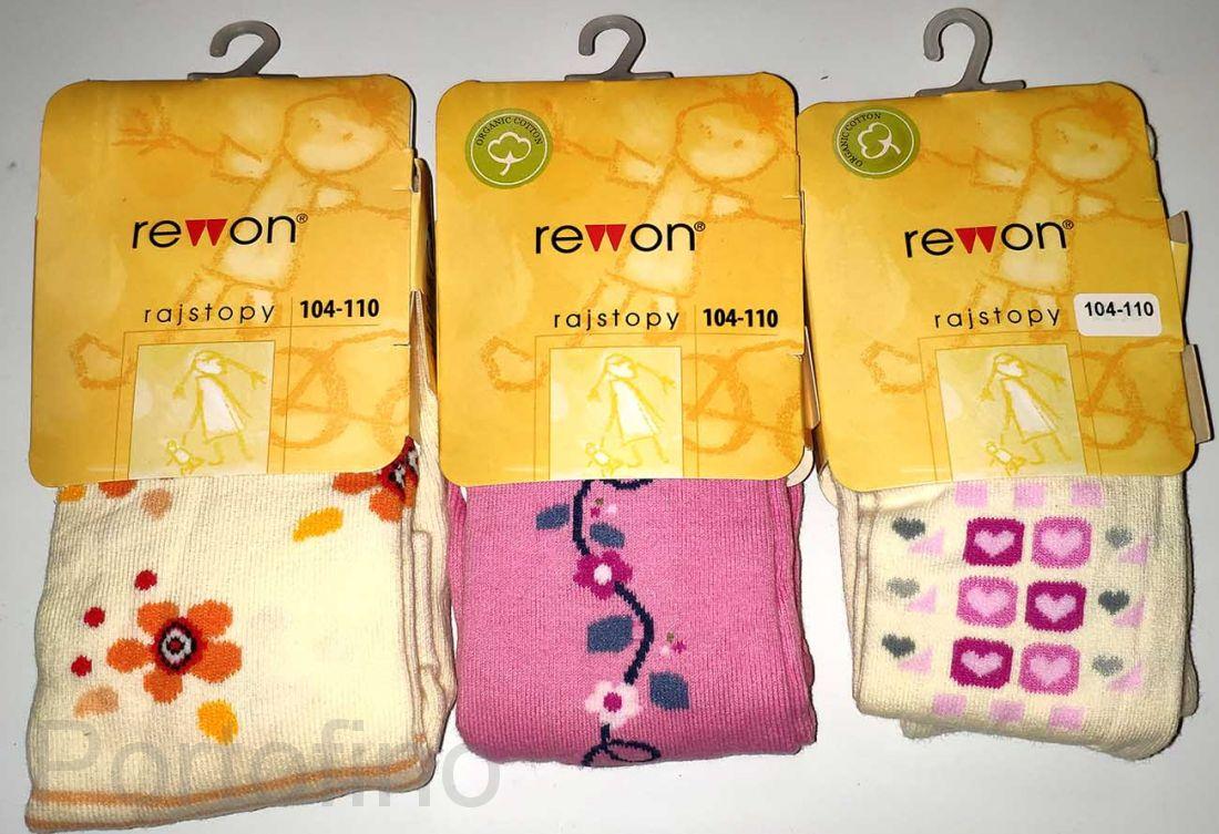 501-004G (104/110) Колготки для девочек с компьютерным рисунком Rewon