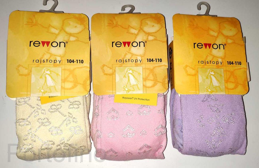 503-009G  (104-110) Колготки с добавлением вискозы для девочек Rewon
