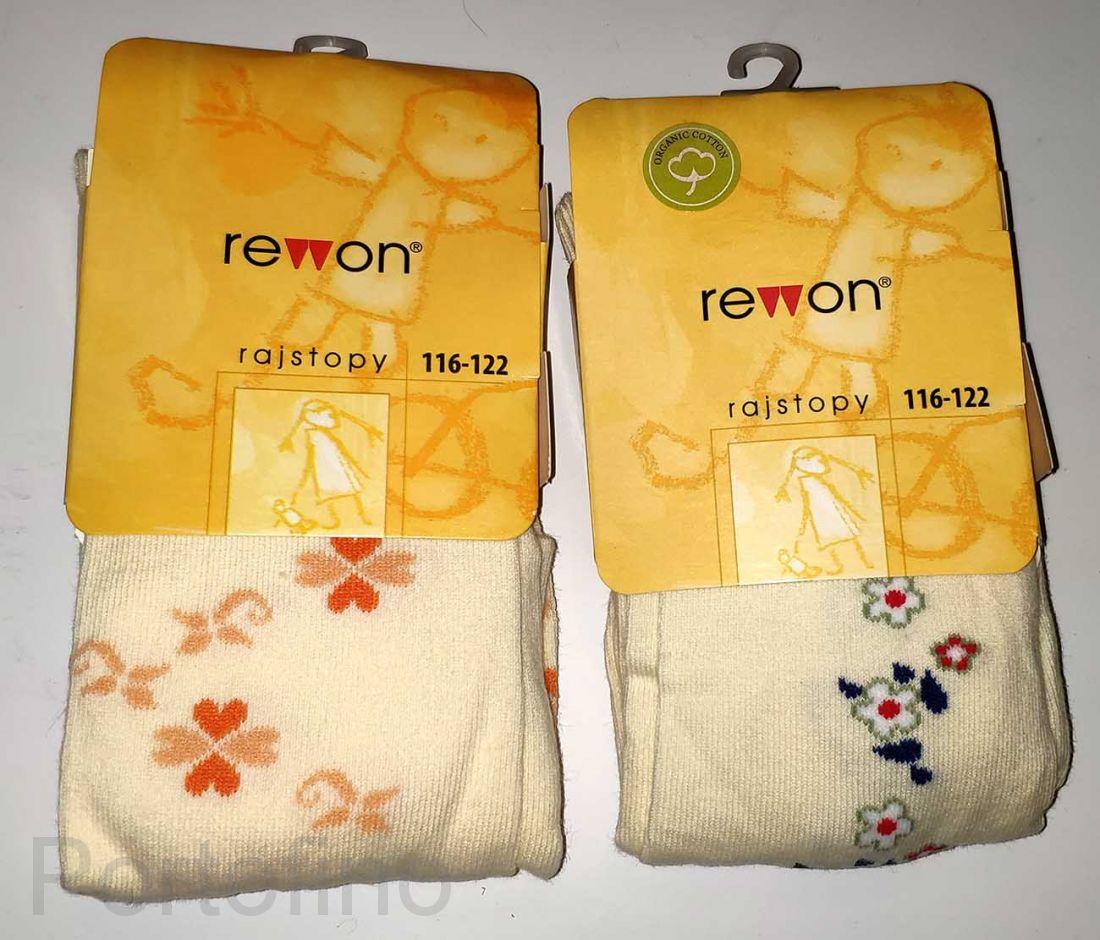 501-004G (116/122) Колготки для девочек с компьютерным рисунком Rewon