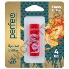флэш-карта Perfeo 4GB C04 Red Dragon