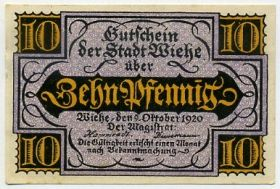 Германия. Нотгельд г. Виэ 10 пфеннигов 1920