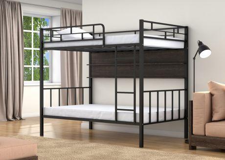 Двухъярусная кровать Валенсия 120 Черный полка
