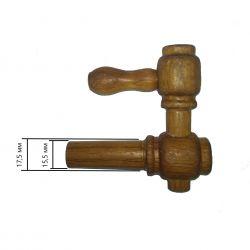 Деревянный кран для дубовой бочки, вощеный