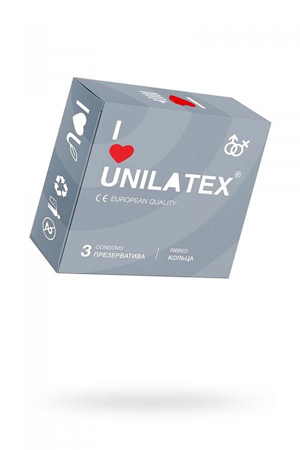 Презервативы Unilatex Ribbed №3 ребристые
