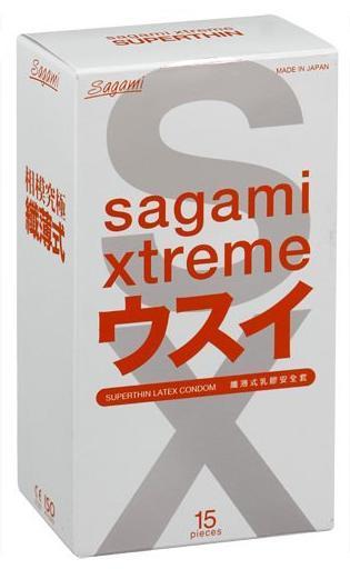 Презервативы SAGAMI Xtreme 0.04мм ультратонкие 15шт.