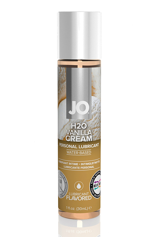 "Вкусовой лубрикант ""Ваниль"" / JO Flavored Vanilla H2O 1oz - 30 мл."