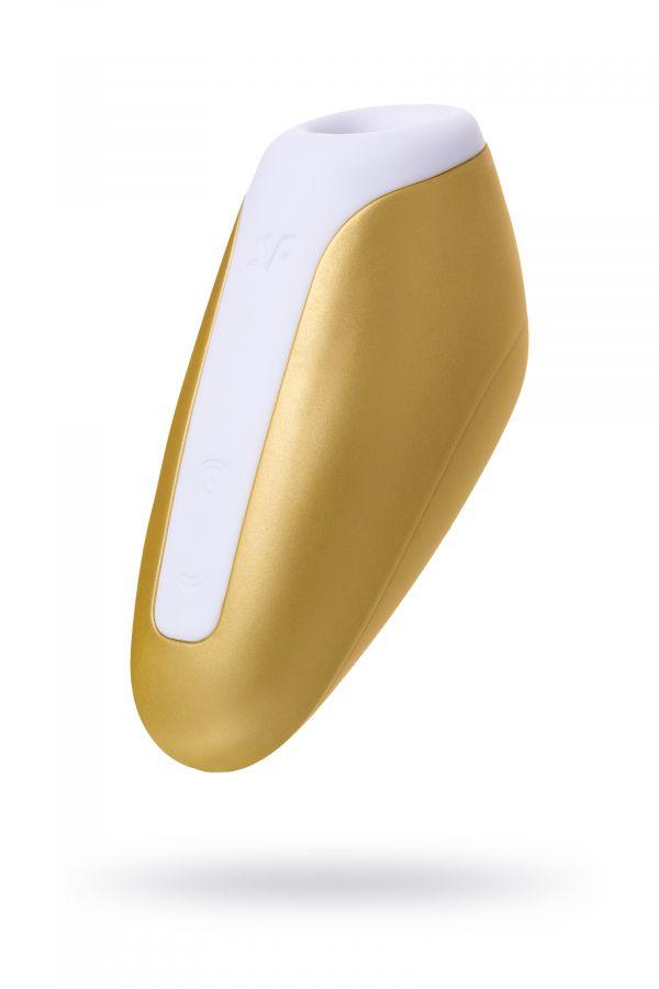 Вакуум-волновой бесконтактный стимулятор клитора Satisfyer Love Breeze, Силикон, Золотой, 9,5 см