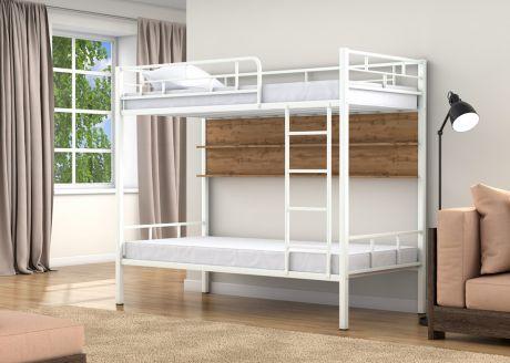 Двухъярусная кровать Валенсия Белый полка