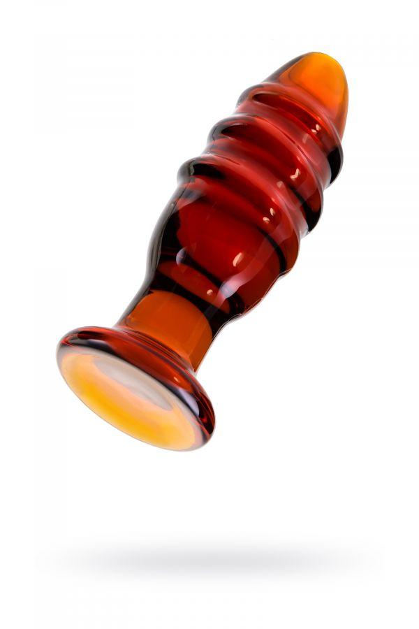 Анальная втулка Sexus Glass, стекло, коричневая, 12,5 см, ? 4 см