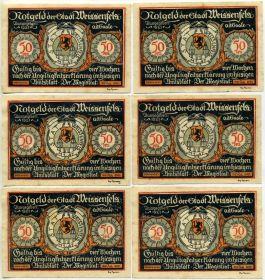 Германия. Нотгельды г. Вайсенфельс 1921