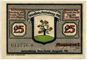 Германия. Нотгельд г. Аннабург 25 пфеннигов 1921