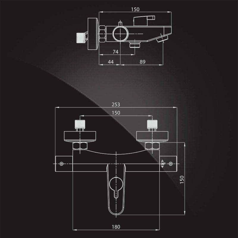 Смеситель термостат для ванны Elghansa Termo 6700857