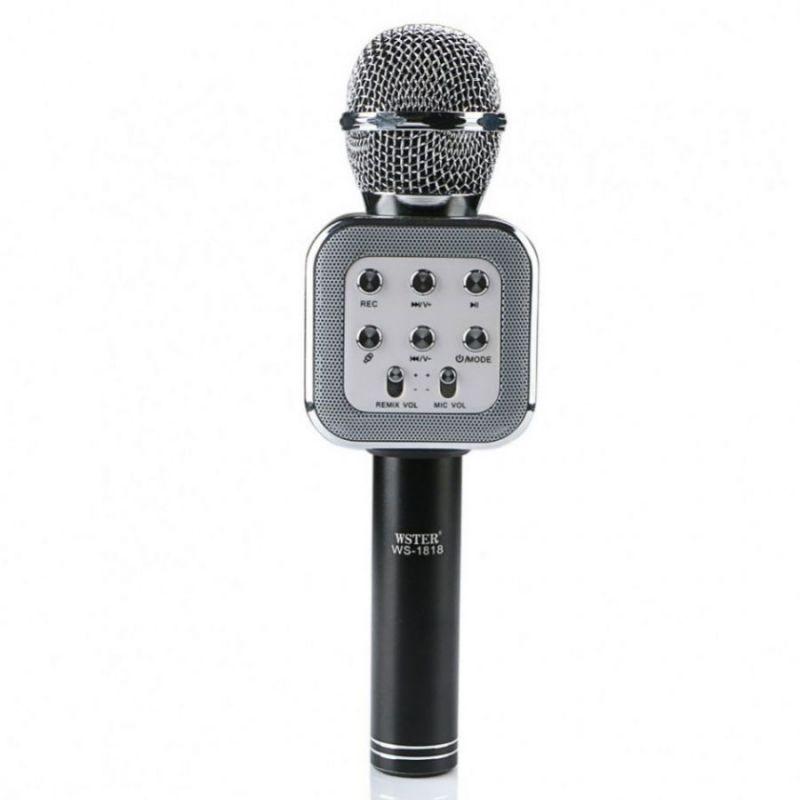 Беспроводной Караоке Микрофон WS-1818, Черный