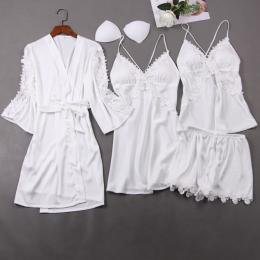 белый пижамный комплект 4 предмета, размеры 42,44,46, модель 703