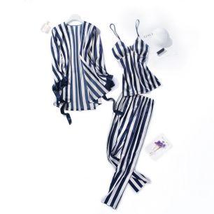 комплект пижамный , шелк ,3 предмета,  размеры 44,46,48 модель  713