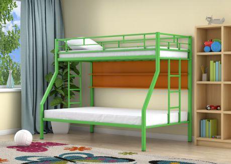 Двухъярусная кровать Милан Зеленый полка