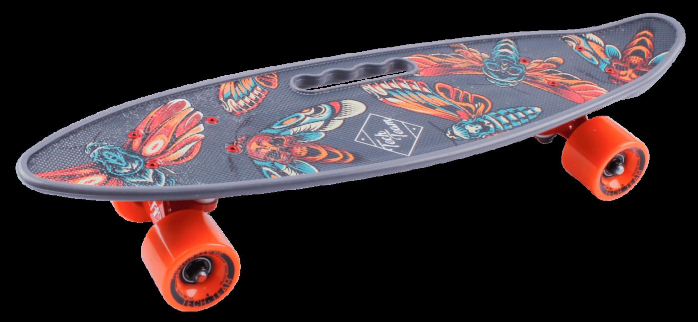 Скейтборд пластиковый Fishboard 23 print мотылек