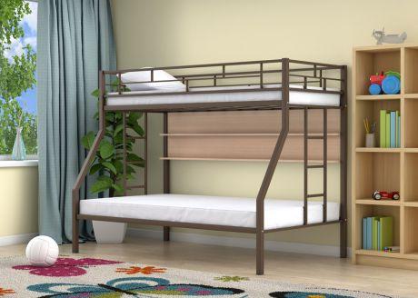 Двухъярусная кровать Милан Коричневый полка