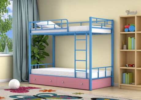Двухъярусная кровать Ницца Голубой ящики