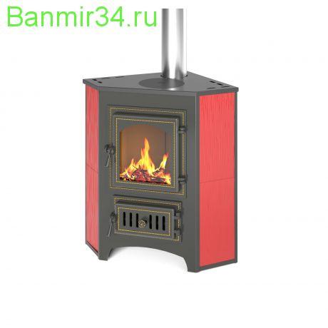 Печь-Камин  ВЕЗУВИЙ ПК-01 (220) угловой красн. с конфоркой