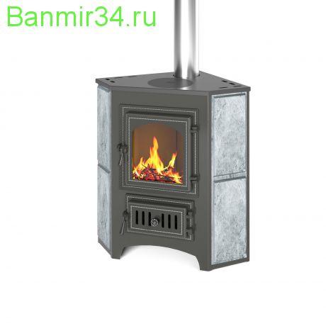 Печь-Камин  ВЕЗУВИЙ ПК-01 (220) угловой т/х с конфоркой