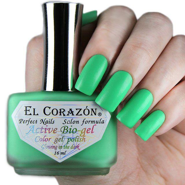 El Corazon Active Bio-gel Активный Био-гель 423/485  Luminous зеленый (Светится в темноте) !! 16 мл