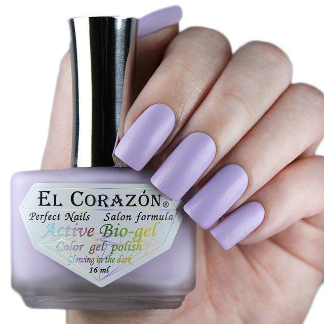 El Corazon Active Bio-gel Активный Био-гель 423/490  Luminous сиреневый (Светится в темноте) !! 16 мл