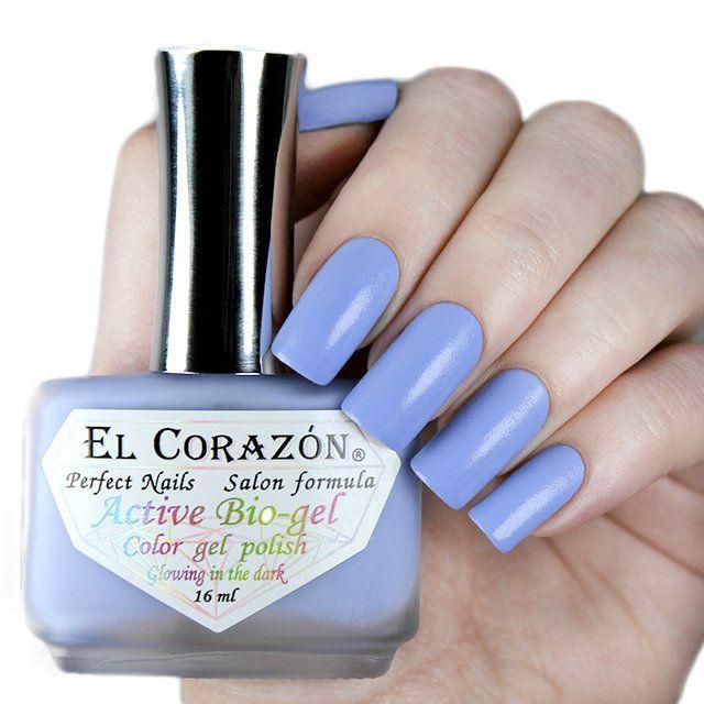 El Corazon Active Bio-gel Активный Био-гель 423/496  Luminous васильковый (Светится в темноте) !! 16 мл
