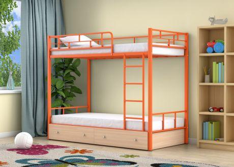 Двухъярусная кровать Ницца Оранжевый ящики