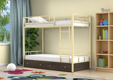 Двухъярусная кровать Ницца Слоновая кость ящики