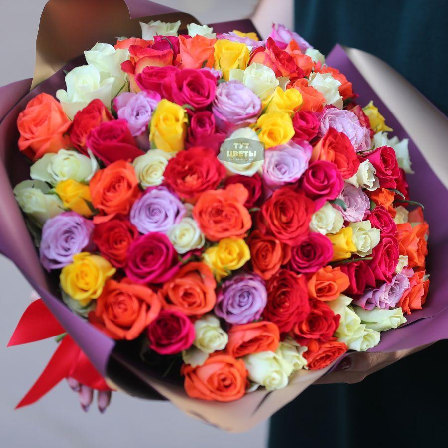 АКЦИЯ! 101 роза микс