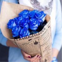 АКЦИЯ! 9 синих роз