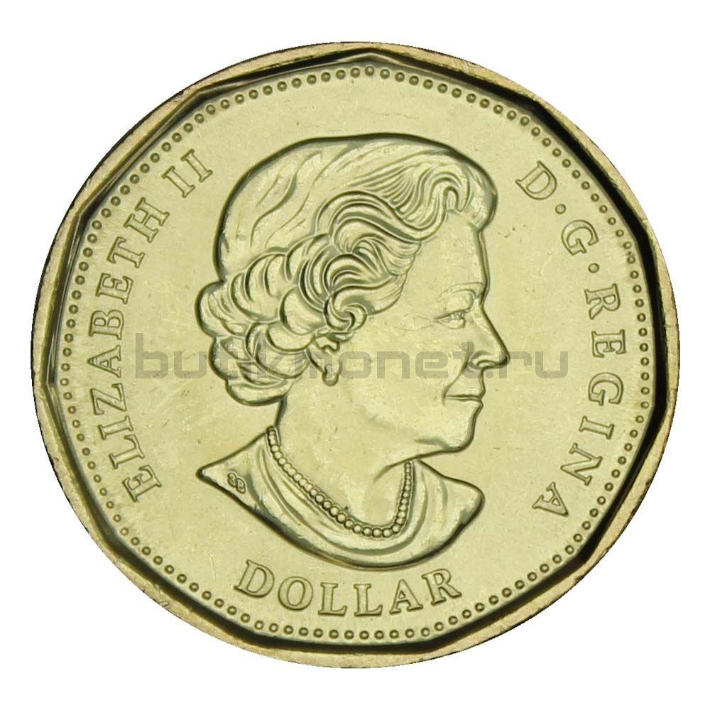1 доллар 2020 Канада 75 лет ООН Цветная