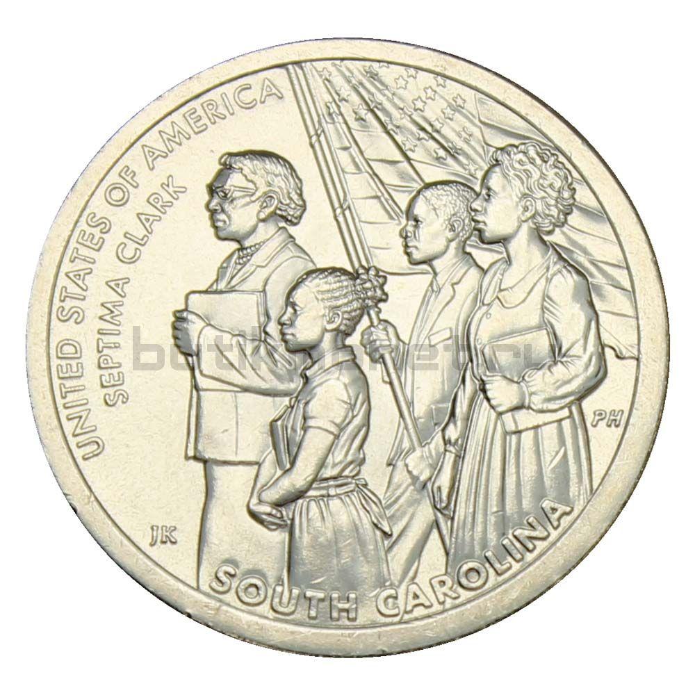 1 доллар 2020 США Септима Пуансетт Кларк, Южная Каролина (Американские инновации)