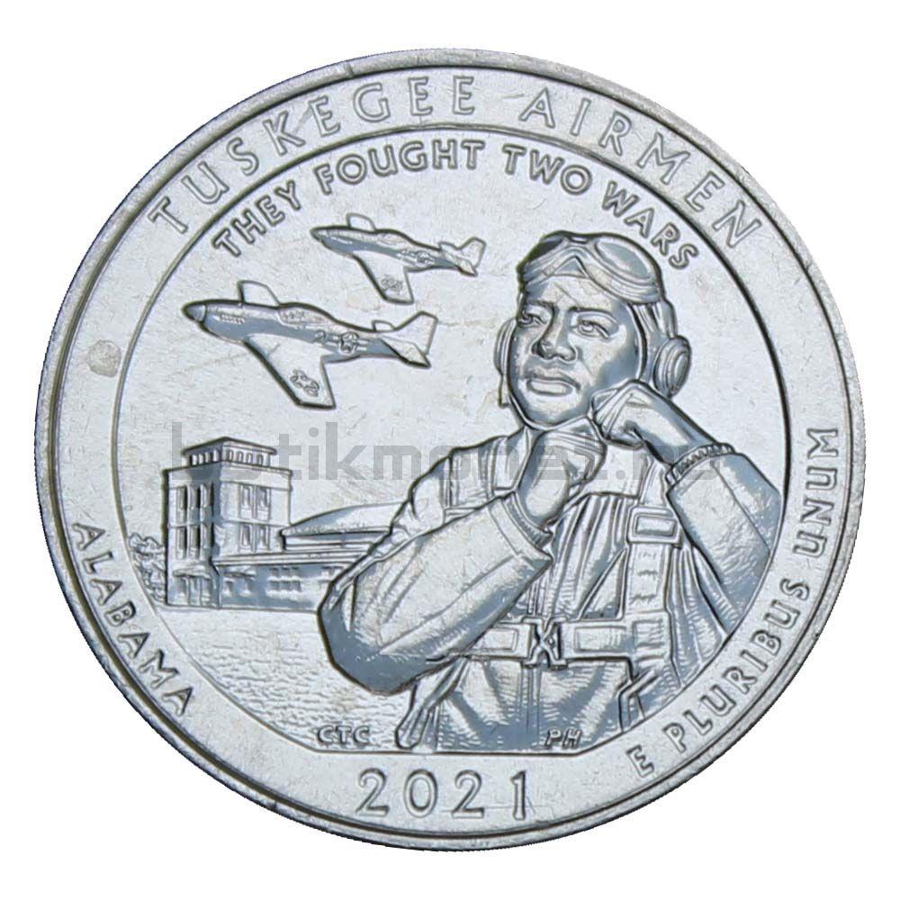25 центов 2021 США Национальное историческое место - Пилоты из Таскиги D