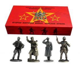 Набор №1 Красная Армия. Вторая мировая война.Оловянные солдатики
