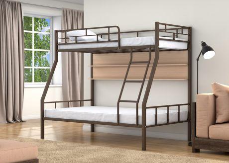 Двухъярусная кровать Раута Коричневый полка