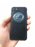 Кожаный чехол-накладка с логотипом «Lexus»» на iPhone