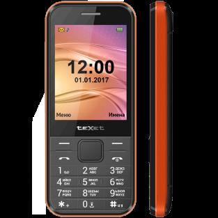 Мобильный телефон teXet TM-302 цвет черный-красный