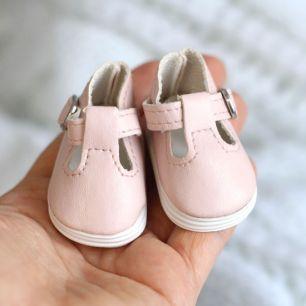 Обувь для кукол - Сандалики пудровые, 5 см