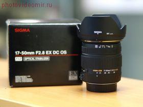 Объектив Sigma 17-50mm f/2.8 EX DC OS для фотокамер NIKON б/у